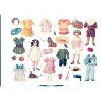 Klippdockor barn - vykort
